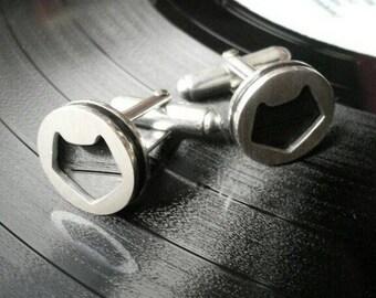 Black Cat BlackMinette Corp cuff links - Silver 925