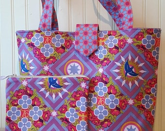 Tote Bag with matching Zippered Pouch
