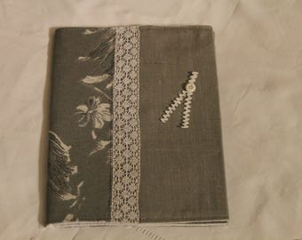 set protects linen book and book Plaid