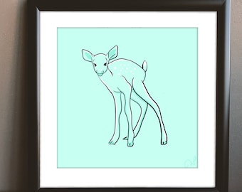 Mint Deer Printable