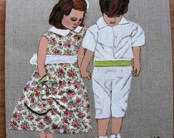 linen 3D painting children