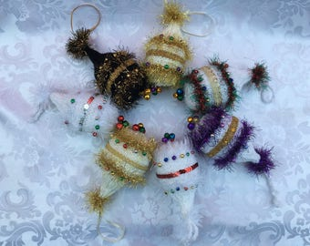 Tinsel Hand-knitted Christmas Bauble Decoration