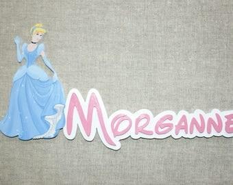 Cinderella - choose name door plaque