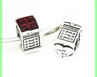 phone call N20 European spacer bead for bracelet charms