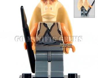 Custom Jar Jar BinksMinifigure Star Wars Fits Lego UK Seller