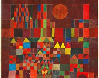 SET of TABLE semi-rigid ORIGINAL AESTHETIC WASHABLE and durable - Abstract artists - Paul Klee - Castle and Sun - C