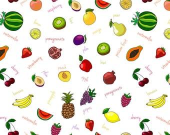 SEMI RIGID ORIGINAL PLACEMAT. FOOD DECORATION. Tutti frutti.