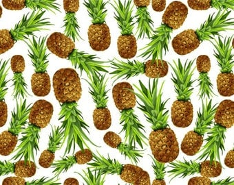 SEMI RIGID ORIGINAL PLACEMAT. FOOD DECORATION. Small and large pineapple. Classic version.