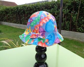 Sun Hat child multicolor cotton canvas