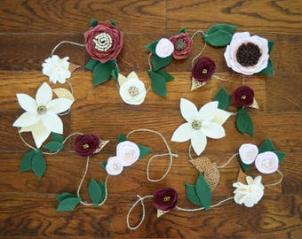 CUSTOM felt flower garland