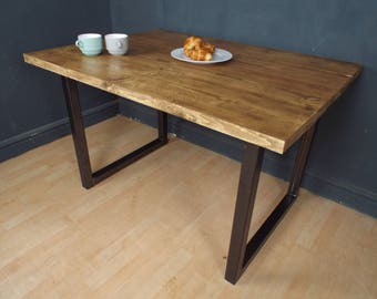 Reclaimed Industrial Dining Farmhouse Kitchen Table CHOOSE YOUR SIZE