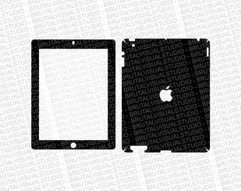 Apple iPad Gen 2 - Skin Cut Template  - Templates for cutting or machining - Digital Download - Plotter, CNC, Laser Cutter - SVG