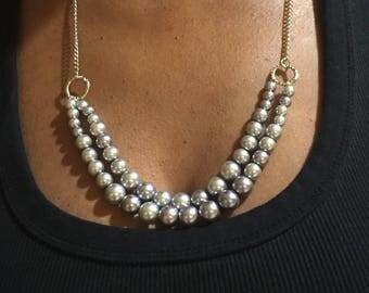 Purple pearl necklace