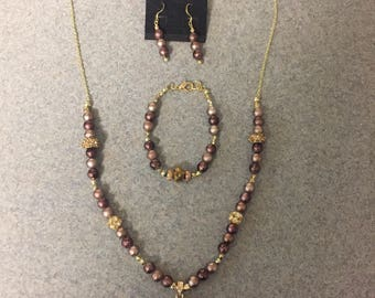 Shades of brown jewelry set