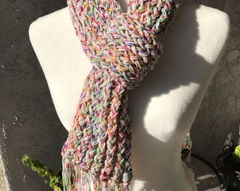 Handmade Knitted Scarf with loop Item #2020