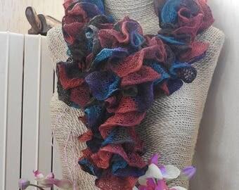 Yarn scarves cotton mesh FishNet