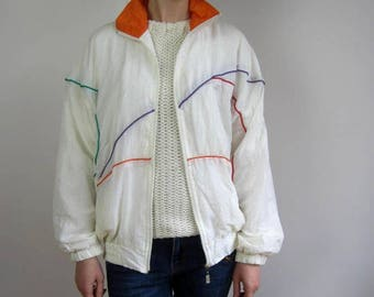 vintage windbreaker jacket 80s 90s OPA size M Medium