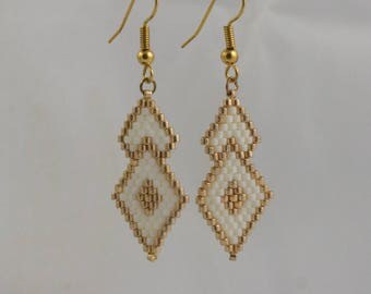"""""""Golden diamond"""" earrings"""