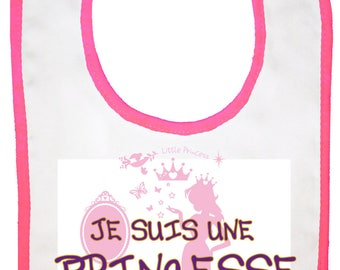 "original baby bib ""I'm a Princess"""