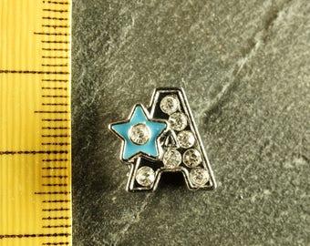 Pearl star N5 letter bandwidth rhinestone alphabet for bracelet