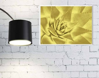 Gold cacti wall art. Printable cacti wall art. Downloadable poster. Print poster.