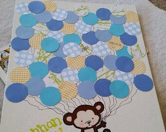 Baby Shower Guest Book Canvas