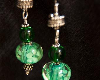 Vita: Green Drop Earrings