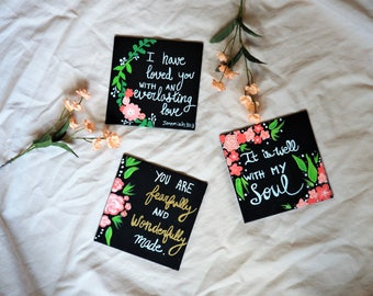 Three Bible verse canvases for any room decoration