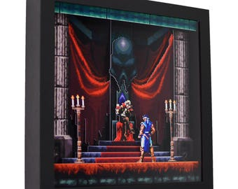 "Castlevania: Symphony of the Night - 3D Shadow Box (9"" x 9"")"