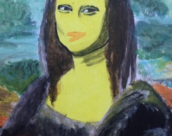 The Mona Lisa Chicken Portrait