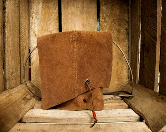 Small recycled leather bag