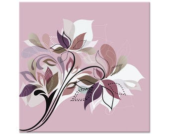 Wall painting, flower, abstract, digital art