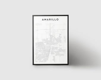 Amarillo Map Print