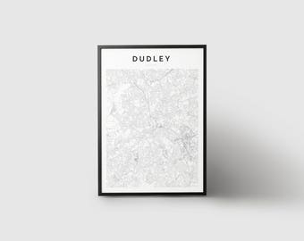 Dudley Map Print