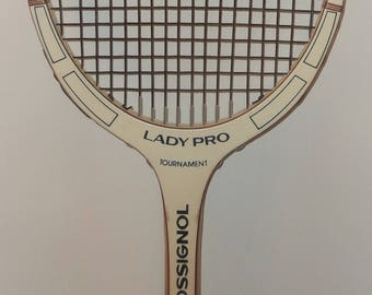 Vintage Tennis Racquet: Rosignol Lady Pro & Head Cover
