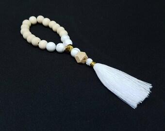 BIANCA white Bohemian bracelet