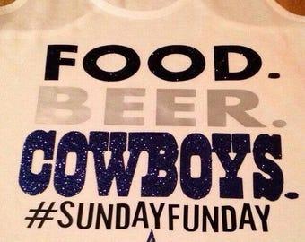 Food Beer Cowboys Football Shirt