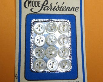 Set of 12 buttons MOP 0.95 cm in diameter - #2024_095