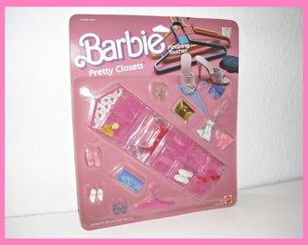 Vintage Barbie Finishing Touches Pretty Closets 1985 MOC Fashion Barbie Shoes