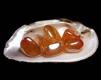 Tangerine Aura Quartz Tumbled Stone