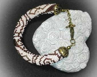 Miyuki 11/0 seed beads spiral crochet bracelet