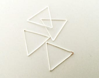 20 spacer triangles 21mm silver jewelry designs