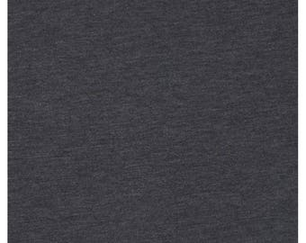Black Heather gray stretch jersey fabric