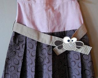 """Skirt pleated to little girl. """"Melipli"""" belted skirt."""