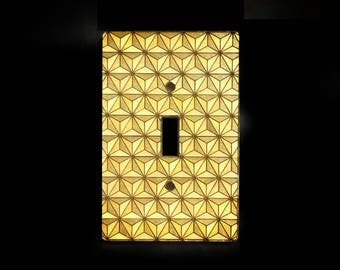 Laser Cut Switch Plate with Pyramid Design