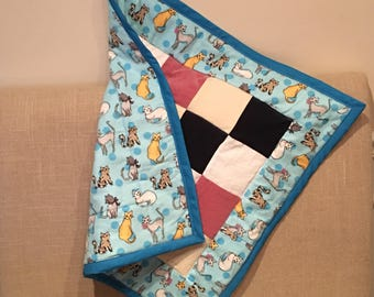 Cat blanket - patchwork quilt