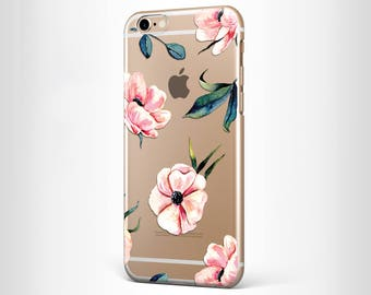 Beautiful Floral iPhone Case Clear Samsung Galaxy S8 Case Clear iPhone 7 Plus Case Clear iPhone 7 Case Floral Samsung CaseMothers Day Gifts