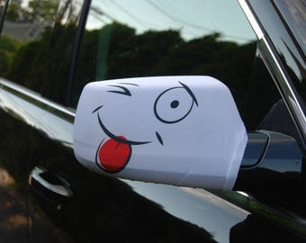Smily Face Car Side Mirror Cover