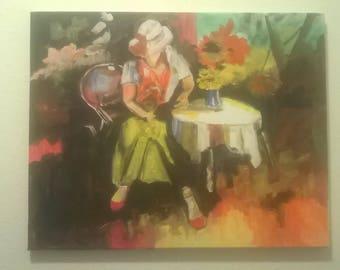 Signed original painting by Portland, Oregon artist Joseph Cardinal.