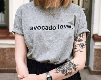 Avocado Lover t-shirt, Avocado lover, avocado t-shirt, gray avocado t-shirt, avocado for life, holy guacamole